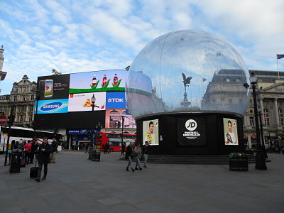 Piccadilly snow globe